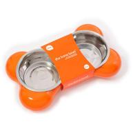 Hing Dog Bone Bowl in Orange