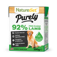 Naturediet Purely Free-range Lamb Wet Adult Dog Food Cartons 390g x 18