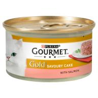 Gourmet Gold Savoury Cake Salmon Wet Adult Cat Food 85g x 12