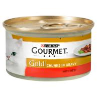 Gourmet Gold Beef in Gravy Cat Food 85g x 12