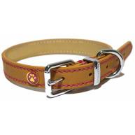 Rosewood Luxury Leather Tan Dog Collar