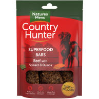 Natures Menu Country Hunter Beef with Spinach & Quinoa Superfood Bar Dog Treat 100g