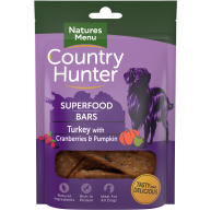 Natures Menu Country Hunter Turkey with Cranberries & Pumpkin Superfood Bar Dog Treat 100g