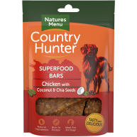 Natures Menu Country Hunter Chicken with Coconut & Chia Seeds Superfood Bar Dog Treat 100g
