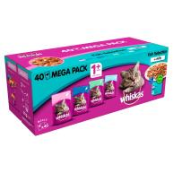 Whiskas 1+ Fishermans Choice Adult Cat Food Pouches 100g x 40