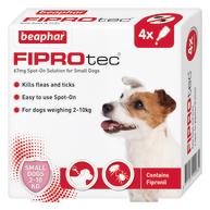 Beaphar FIPROtec Spot On for Dogs Small Dog 4 Pipettes