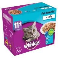 Whiskas 11+ Fish Selection in Jelly Senior Cat Food Pouches