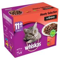 Whiskas 11+ Meaty Selection in Gravy Senior Cat Food Pouches