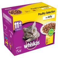 Whiskas 11+ Poultry Selection in Jelly Senior Cat Food Pouches