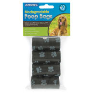 Ancol Biodegradable Poop Bags 60 Pack