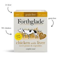 Forthglade Complete Grain-free Meal Chicken & Liver Adult Wet Dog Food