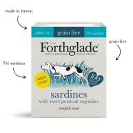 Forthglade Grain Free Complete Sardines with Sweet Potato Adult Wet Dog Food 395g x 18