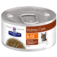 Hills Prescription Diet KD Chicken & Veg Stew Wet Cat Food 82g x 24