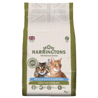 Harringtons Complete Duck & Chicken Dry Adult Cat Food 2kg