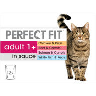 Perfect Fit Mixed Pack Wet Adult 1+ Cat Food 85g x 12