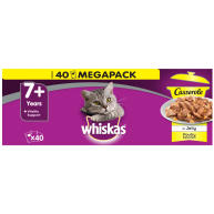 Whiskas Adult 7+ Casserole Poultry Selection Cat Pouches in Jelly