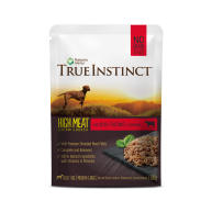 True Instinct High Meat Chicken Fillets with Grass-fed Beef Adult Wet Dog Food Pouches