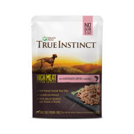 True Instinct High Meat Fillets Chicken with Salmon Adult Wet Dog Food Pouches