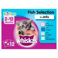 Whiskas 2-12 Months Fish Selection in Jelly Kitten Food