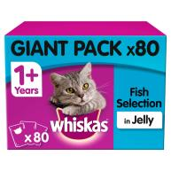 Whiskas 1+ Fishermans Choice Adult Cat Food Pouches 100g x 80 SAVER PACK