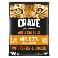 CRAVE Turkey & Chicken Dry Adult Cat Food