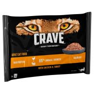 CRAVE Chicken & Turkey Adult Wet Cat Food Pouches