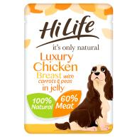 HiLife Its Only Natural Chicken Breast with Carrots & Peas in Jelly Adult Dog Food 100g x 15