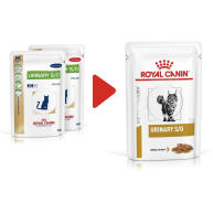 Royal Canin Veterinary Diets Urinary SO Pouches Cat Food 85g x 96 Morsels in Gravy