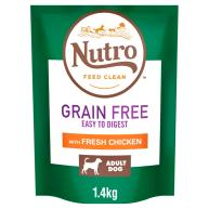 Nutro Grain Free Chicken Medium Adult Dry Dog Food 1.4kg - Try Me for Free*