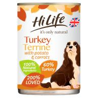 HiLife Its Only Natural Turkey Terrine Wet Adult Dog Food