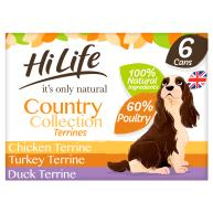 HiLife Its Only Natural Country Collection Terrines Wet Adult Dog Food 395g x 6