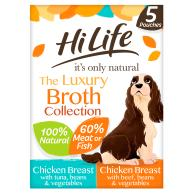 HiLife Its Only Natural Luxury Broth Collection Wet Dog Food 100g x 5