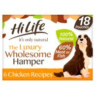 HiLife Its Only Natural Luxury Wholesome Hamper Wet Dog Food 100g x 18