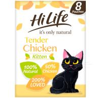 HiLife Its Only Natural Tender Chicken Wet Kitten Food 70g x 8