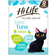 HiLife Its Only Natural Tasty Tuna Wet Kitten Food 70g x 8
