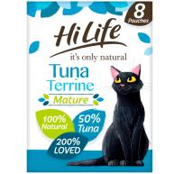 HiLife Its Only Natural Tuna Terrine Wet Senior Cat Food 70g x 8