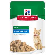 Hills Science Plan Kitten Ocean Fish Pouches Wet Cat Food