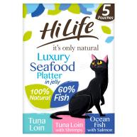 HiLife Its Only Natural Luxury Seafood Platter in Jelly Adult Cat Food 50g x 5