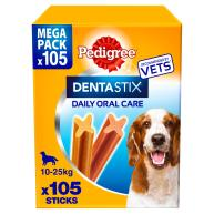 Pedigree Dentastix Medium Dog Treats 105 Stick SAVER PACK