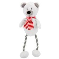 Hug Tug Polar Bear Christmas Dog Toy 300mm