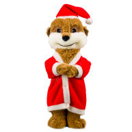 Good Boy Santa Meerkat Christmas Dog Toy 280mm