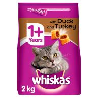 Whiskas Dry 1+ Duck & Turkey Adult Cat Food