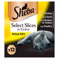 Sheba Select Slices Collection Adult Cat Food Trays 85g x 12