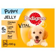 Pedigree Mixed Selection in Jelly Wet Puppy Dog Food 100g x 24