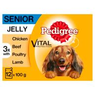 Pedigree Mixed Selection in Jelly Senior Dog Food Pouches 100g x 12