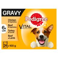 Pedigree Real Meals in Gravy Wet Adult Dog Food Pouches