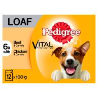 Pedigree Vital Mixed Selection in Loaf Wet Adult Dog Food 100g x 12