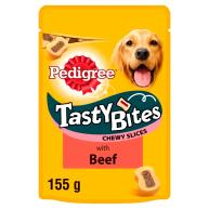 Pedigree Tasty Bites Chewy Slices Adult Dog Treats 155g Beef