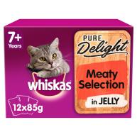 Whiskas 7+ Pure Delight Meaty Selection Wet Adult Cat Food Pouches
