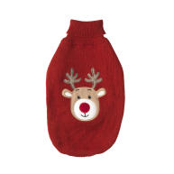 Squeaky-nosed Rudolph Christmas Dog Jumper